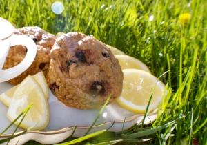 vegan lemon blueberry muffin